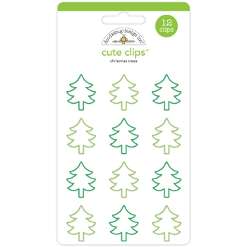 Doodlebug CHRISTMAS TREES Cute Clips Paperclips Here Comes Santa Claus 5350