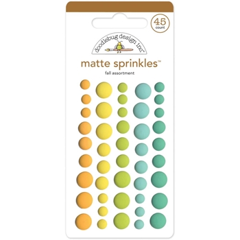 Doodlebug FALL MATTE Flea Market Sprinkles Assortment 5313