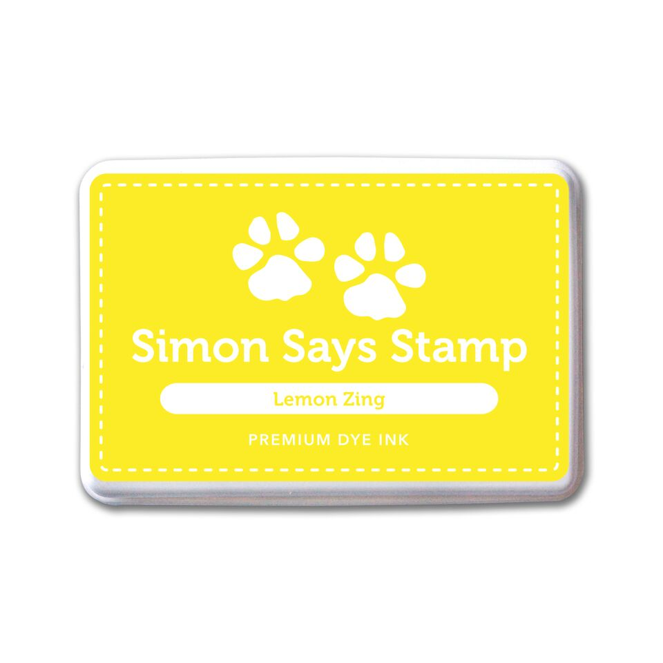 Simon Says Stamp Premium Dye Ink Pad LEMON ZING ink068 zoom image