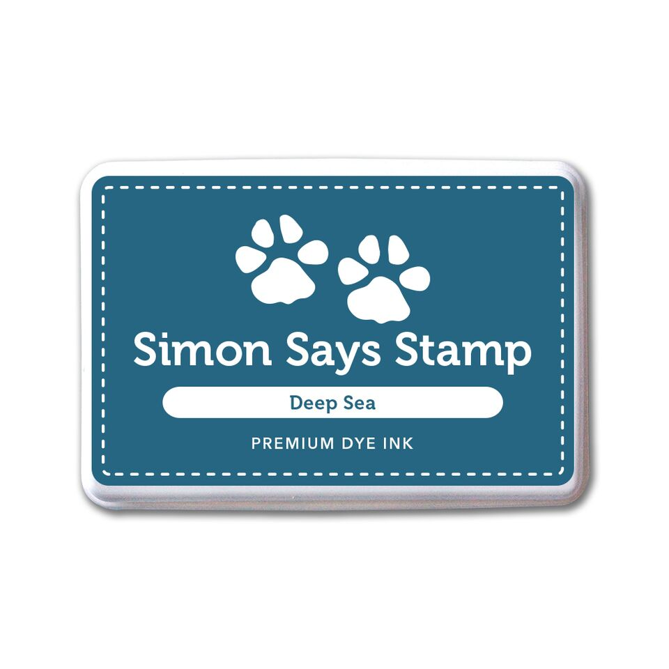 Simon Says Stamp Premium Dye Ink Pad DEEP SEA ink069 STAMPtember