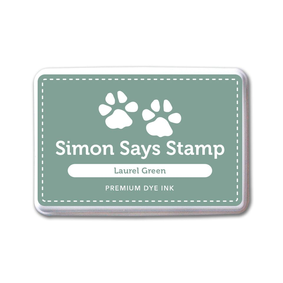 Simon Says Stamp Premium Dye Ink Pad LAUREL GREEN ink071 STAMPtember