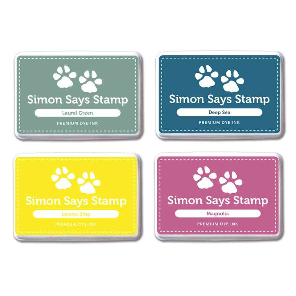 Simon Says Stamp Premium Dye Ink Pad Set RICH VIBES RVIBE4 zoom image