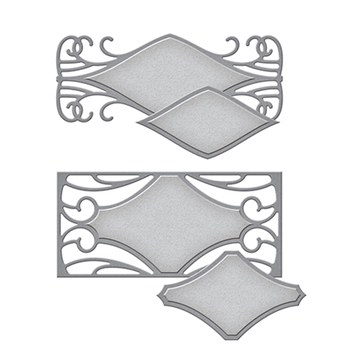 S4-667 Spellbinders Art Nouveau METRO STYLE TAGS Stacey Caron Etched Dies