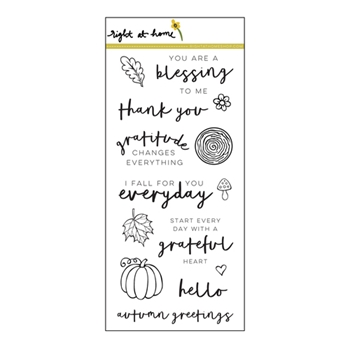 Right At Home GRATEFUL HEART Clear Stamp 688470