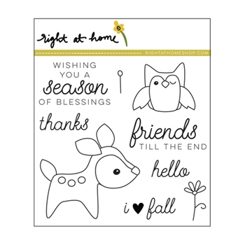 Right At Home DEEREST FRIENDS Clear Stamp 688418