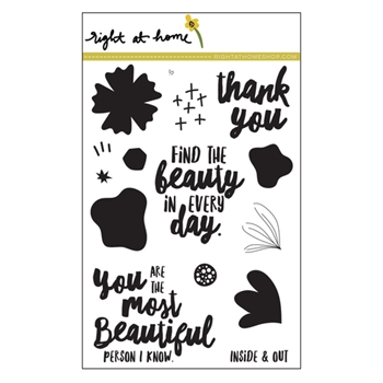 Right At Home FIND THE BEAUTY Clear Stamp 688456