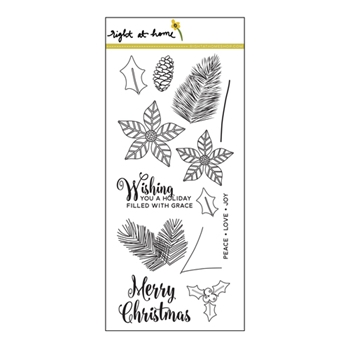 Right At Home CHRISTMAS FOLIAGE Clear Stamp 688487