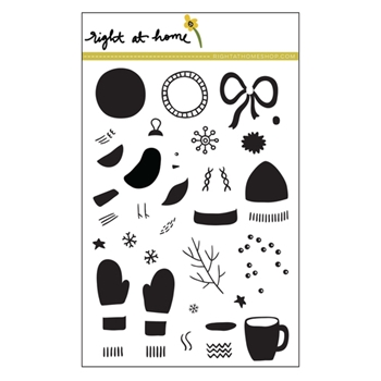 Right At Home BITS AND PIECES: WINTER Clear Stamp 688463