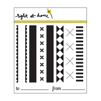Right At Home HOLIDAY RIBBONS Clear Stamp 688449
