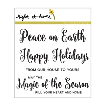 Right At Home MAGIC OF THE SEASON Clear Stamp 688432