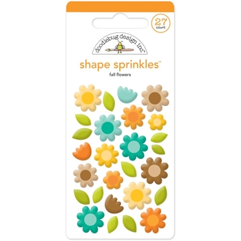 Doodlebug FALL FLOWERS Sprinkles Shapes 5317