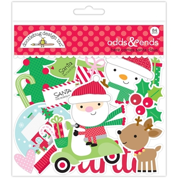 Doodlebug HERE COMES SANTA CLAUS ODDS AND ENDS Die Cuts 5354