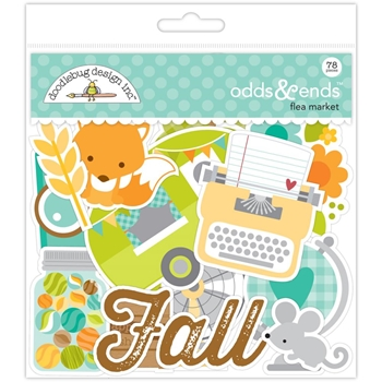 Doodlebug FLEA MARKET ODDS AND ENDS Die Cuts 5352