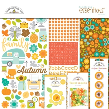 Doodlebug FLEA MARKET Essentials Page Kit 12x12 Inches 5403