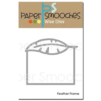 Paper Smooches FEATHER FRAME Wise Die SED343