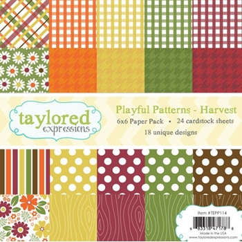 Taylored Expressions PLAYFUL PATTERNS 6x6 Paper Pack TEPP114