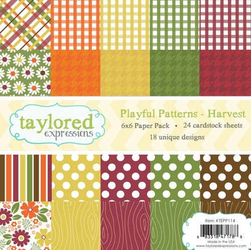 Taylored Expressions PLAYFUL PATTERNS 6x6 Paper Pack TEPP114 zoom image