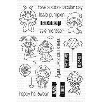 Clearly Besotted ALL IN ONESIE HALLOWEEN Clear Stamp Set