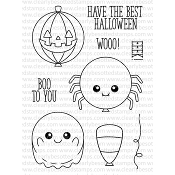 Clearly Besotted BEST HALLOWEEN Clear Stamp Set