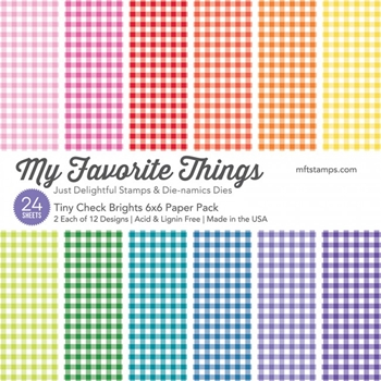 My Favorite Things TINY CHECK BRIGHTS 6x6 Paper Pack 14370