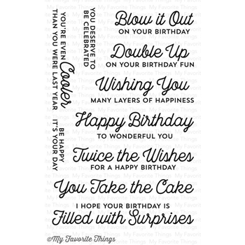 My Favorite Things TWICE THE WISHES Clear Stamps CS134