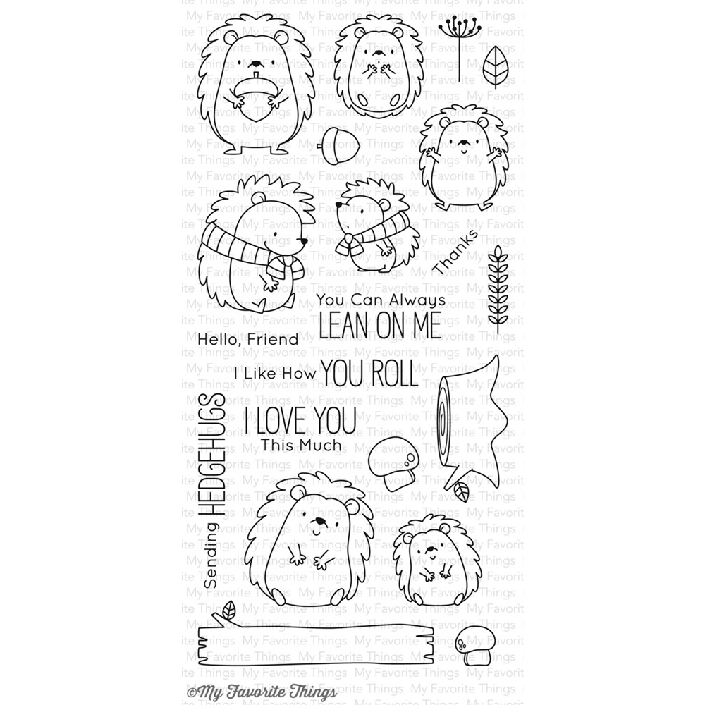 My Favorite Things HAPPY HEDGEHOGS Clear Stamps BB38 zoom image