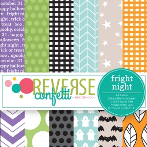 Reverse Confetti FRIGHT NIGHT 6x6 Inch Paper Pad  Preview Image