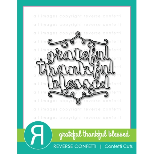 Reverse Confetti Cuts GRATEFUL, THANKFUL, BLESSED Die  Preview Image