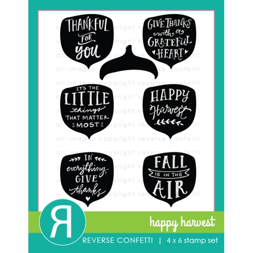 Reverse Confetti Happy Harvest Stamp Set