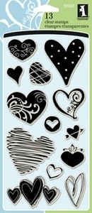 Inkadinkado Clear Stamps HEARTS Set 97637 Preview Image