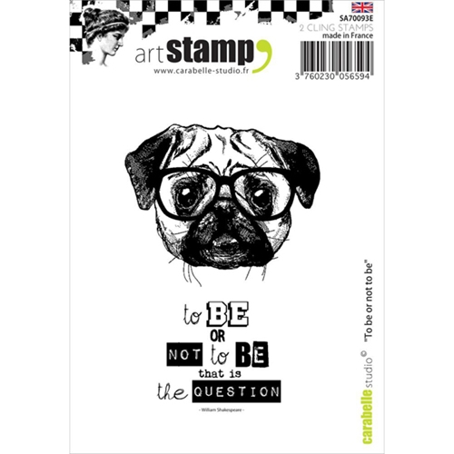 Carabelle Studio TO BE OR NOT TO BE Cling Stamp SA70093E  Preview Image