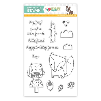Reverse Confetti Stamptember Stamp Set FOREST FRIENDS sss101678 *