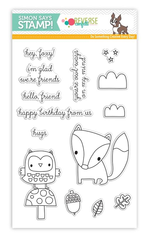 Reverse Confetti Stamptember Stamp Set FOREST FRIENDS sss101678 * zoom image
