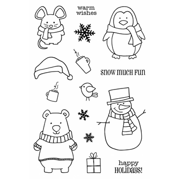 Jane's Doodles WINTER WISHES Clear Stamp Set 742705