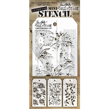 Tim Holtz MINI STENCIL SET 19 MST019