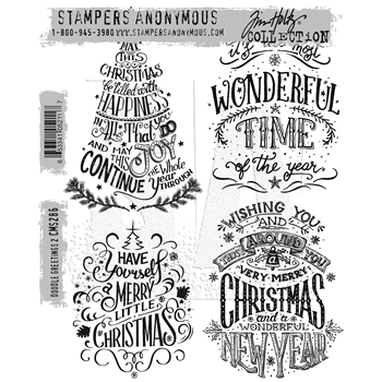 Tim Holtz Cling Rubber Stamps 2016 DOODLE GREETINGS #2 CMS286