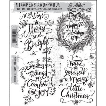 Tim Holtz Cling Rubber Stamps 2016 DOODLE GREETINGS #1 CMS285