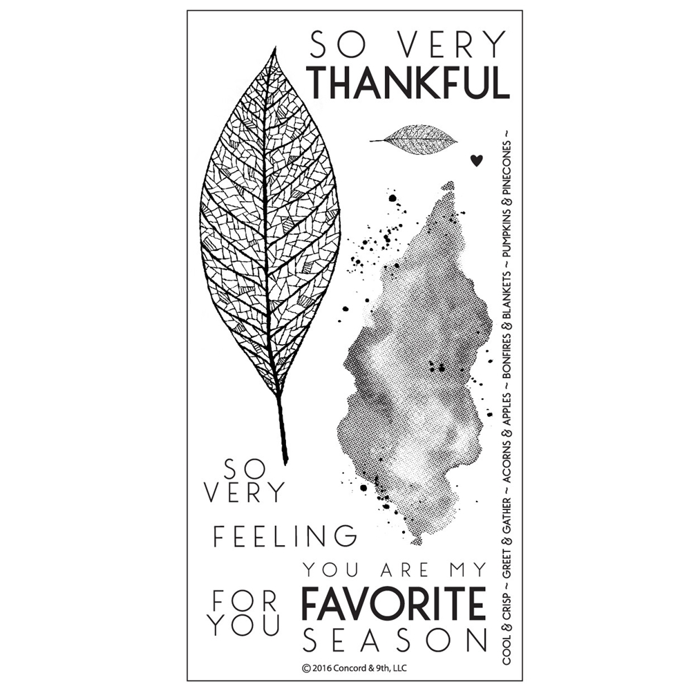 Concord & 9th LACE LEAF Clear Stamp Set 10123C9 zoom image