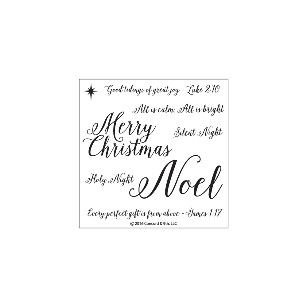 Concord & 9th HOLY NIGHT Clear Stamp Set 10120C9 zoom image