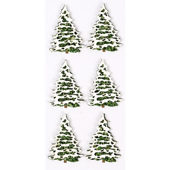 Little B SNOW COVERED TREES Mini Stickers 102233