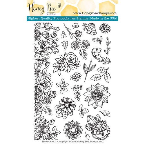 Honey Bee ZEN FLORAL Clear Stamp Set HBST33 Preview Image