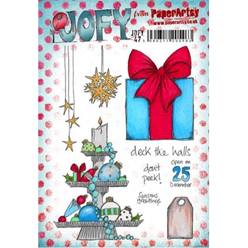 Paper Artsy JOFY47 Deck the Halls Rubber Cling Stamp JOFY47
