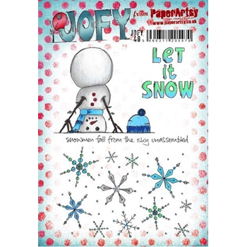 Paper Artsy JOFY 48 Let It Snow Rubber Cling Stamp JOFY48