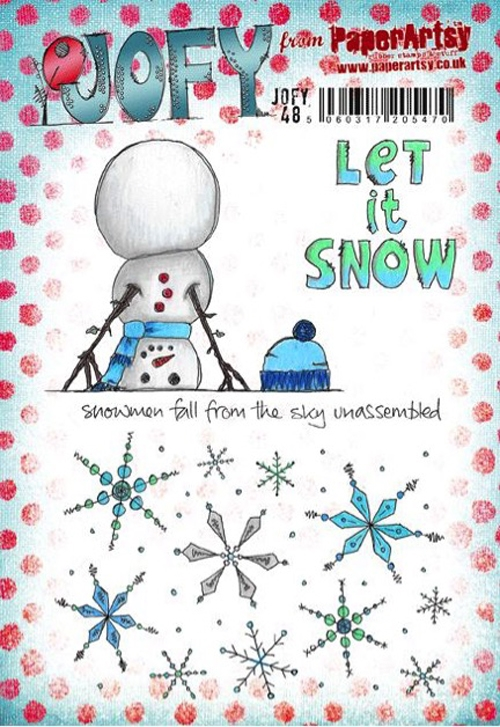Paper Artsy JOFY48 Let It Snow Rubber Cling Stamp JOFY48 zoom image