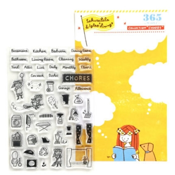 Sakuralala CHORES Clear Stamp Set 3650024