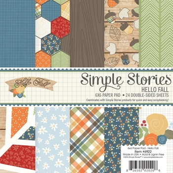Simple Stories HELLO FALL 6 x 6 Paper Pad 6922