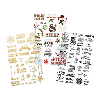 Simple Stories CLASSIC CHRISTMAS Clear Stickers 7333