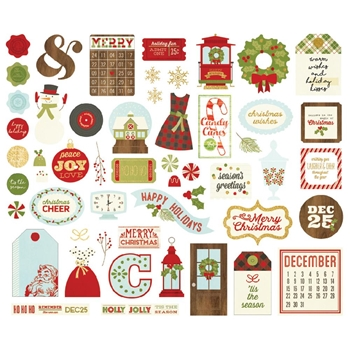 Simple Stories CLASSIC CHRISTMAS Bits And Pieces 7329