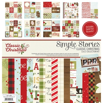 Simple Stories CLASSIC CHRISTMAS 12 x 12 Collection Kit 7300