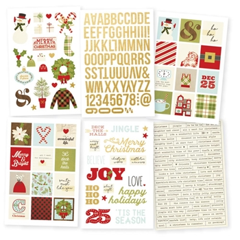 Simple Stories CLASSIC CHRISTMAS Stickers 7332